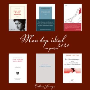 Top 6 de poésie pour l'année 2020 :