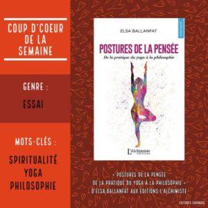 «Postures de la pensée – De la pratique du yoga à la philosophie» d'Elsa Ballanfat