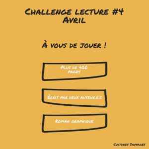 [Challenges lecture] : Avril 2021