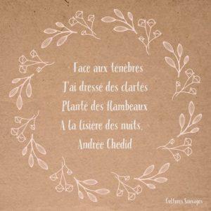 [Paroles de poétesses] : Andrée Chedid