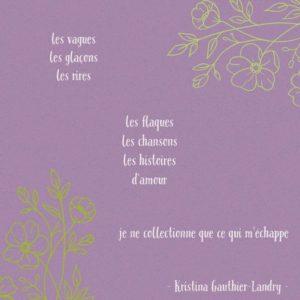 [Paroles de poétesses] : Kristina Gauthier-Landry