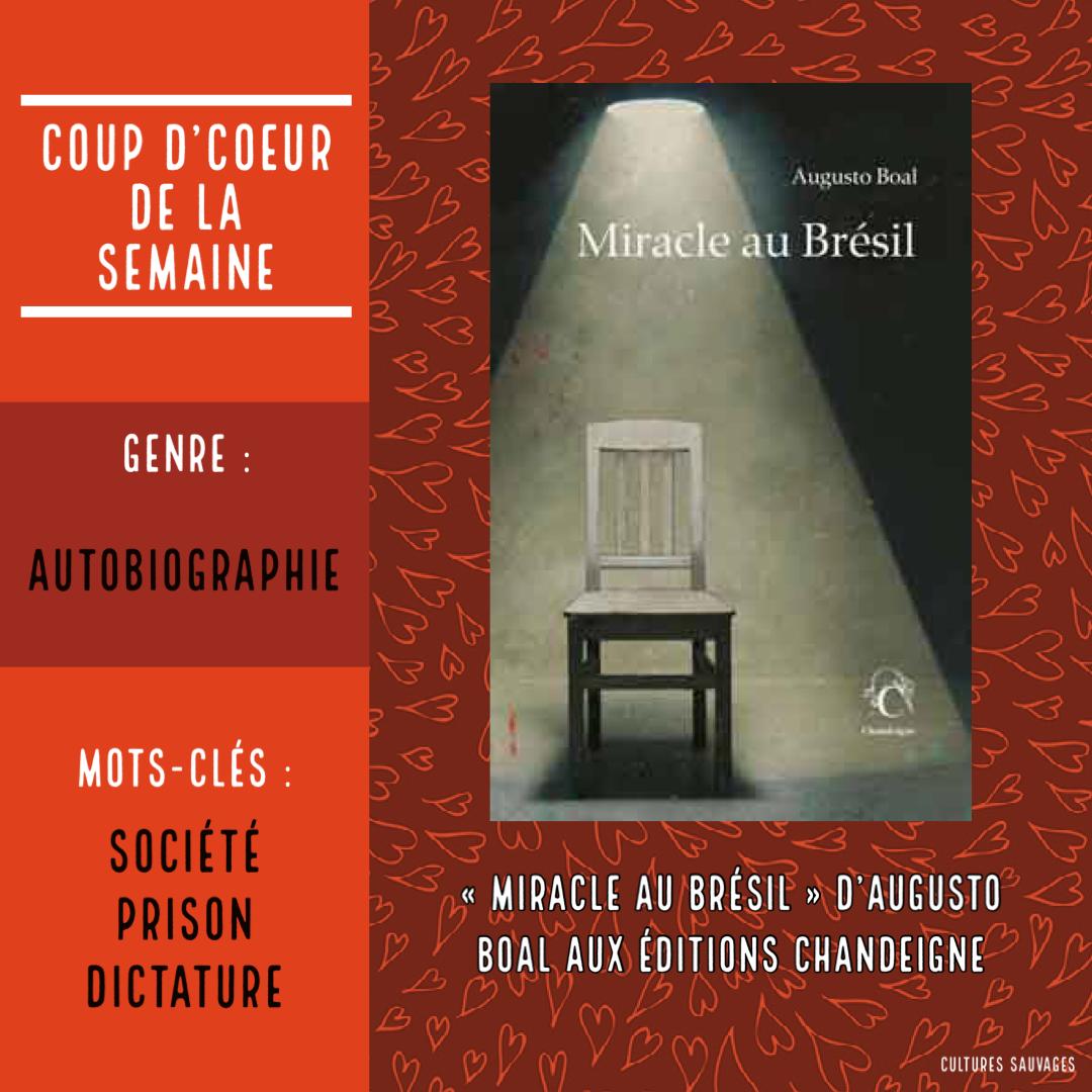 Interview du traducteur Mathieu Dosse pour la sortie de «Miracle au Brésil» du créateur du théâtre de l'Opprimé, Augusto Boal